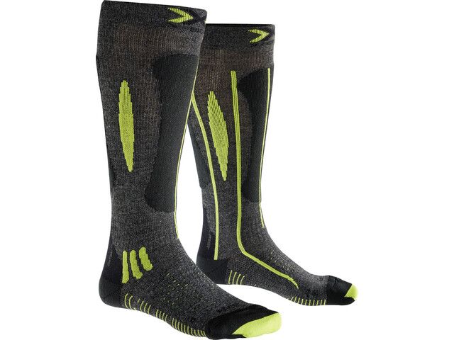 X-Bionic Effektor Ski Race Calcetines Hombre, grey/black/lime
